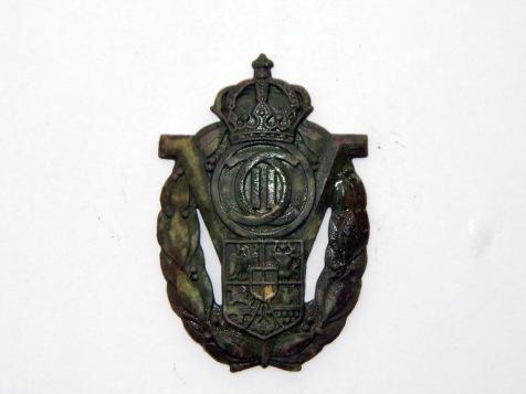 Insigna soldat voluntar din perioada regelui Carol al doilea