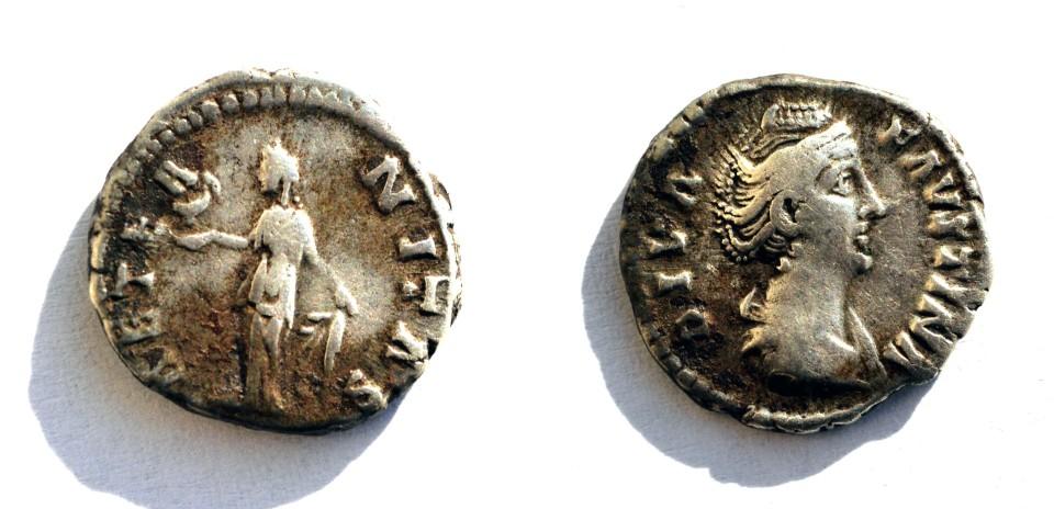 Diva faustina denarius