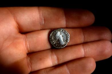 diva faustina denar argint